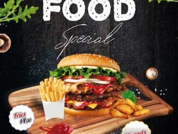 Fast Food Burger Special Free Flyer Template