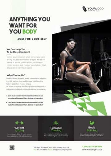 Fit Your Body Free Fitness Flyer Template