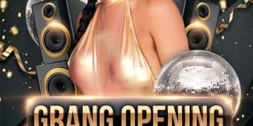 Free Grand Opening Party Event Flyer Template