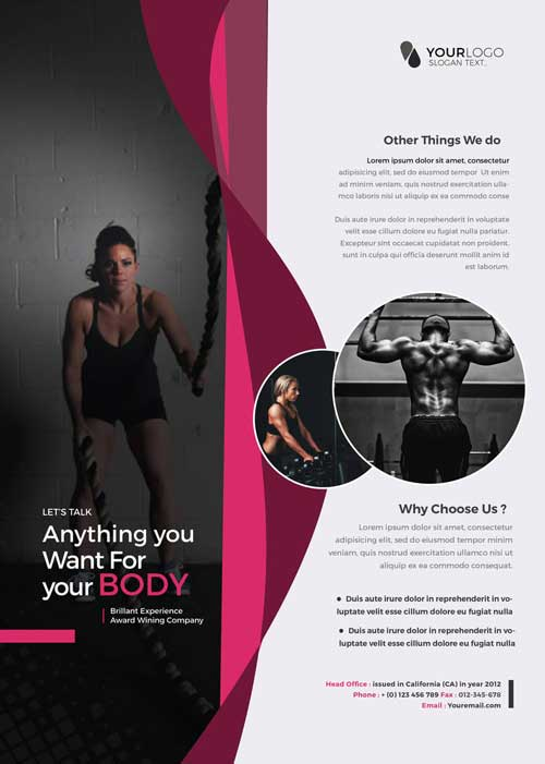 Health & Fitness Free Flyer Template