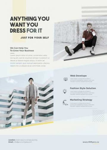 Minimal Fashion Event Free Flyer and Poster Template