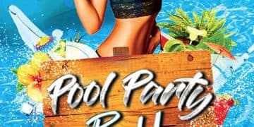 Pool Party Bash Free Flyer Template