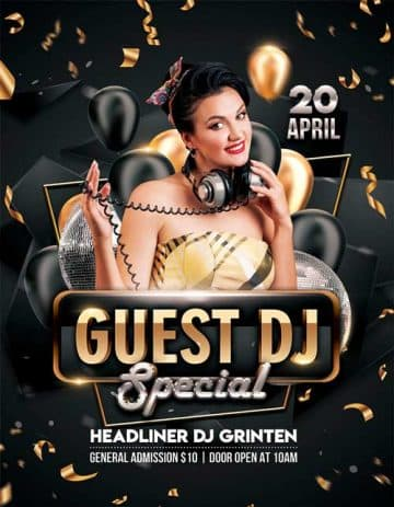 Special Guest DJ Free Flyer Template