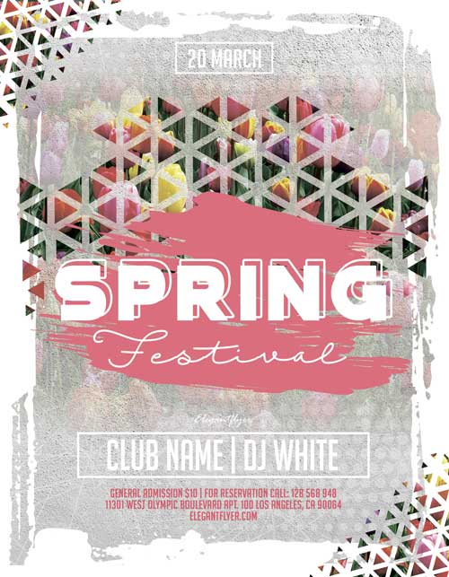 Spring Festival Free Party Flyer Template