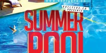 Summer Pool Club Free PSD Flyer Template