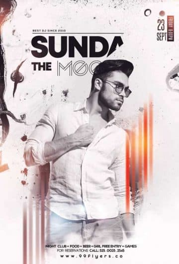Sundays Vibe Free Club Flyer Template