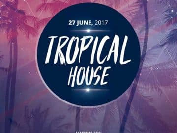 Tropical House Summer Party Free Flyer Template