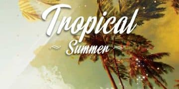 Tropical Summer Free Party Flyer Template