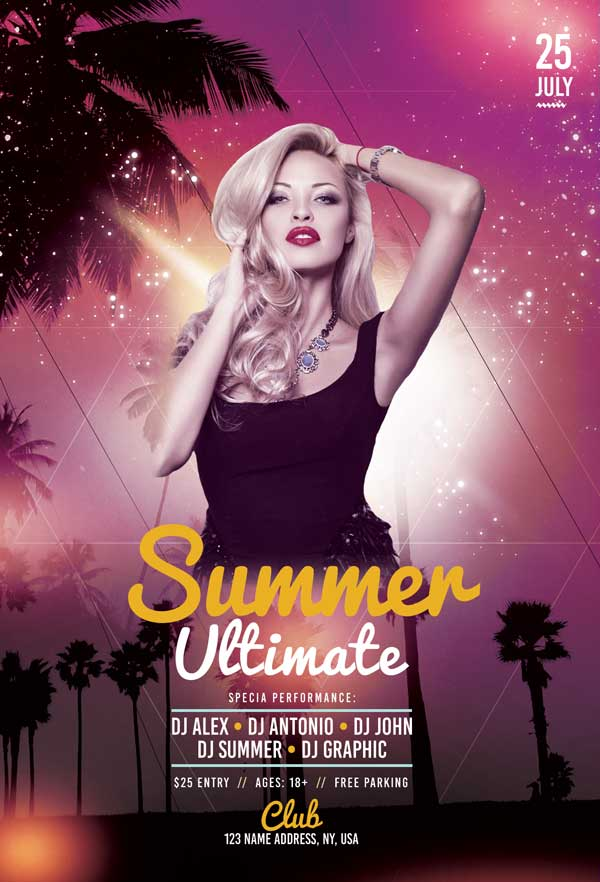 Ultimate Summer Party Free Flyer Template