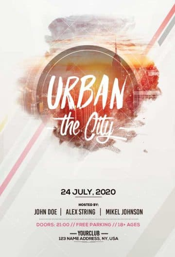 Urban City Party Free PSD Flyer Template