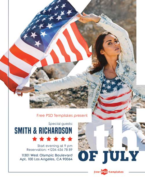 4th of July Free Party PSD Flyer Template
