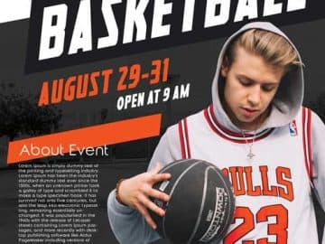 Basketball Camp Free Sport Flyer Template