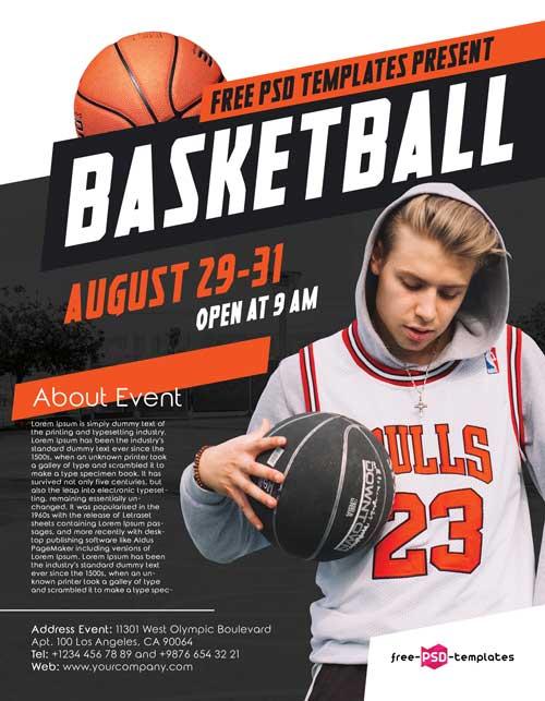 Basketball Camp Free Sport Flyer Template