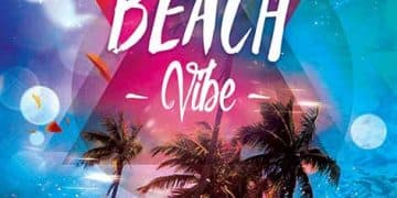 Beach Vibes Club Party Free Flyer Template