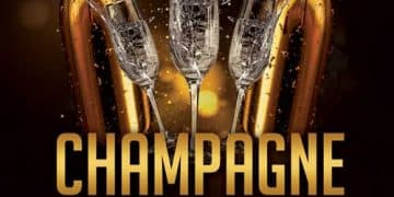 Champagne Night Party Free Flyer Template