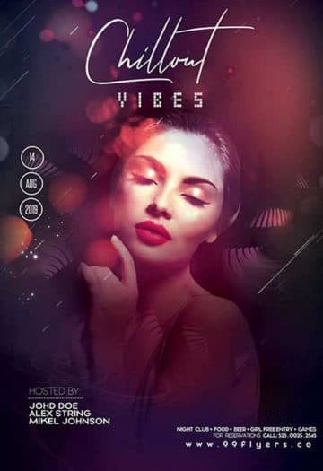 Chill Out Vibe Party Free Flyer Template