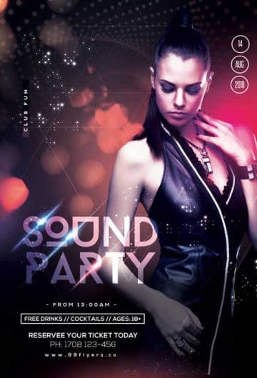DJ Sound Party Free Flyer Template