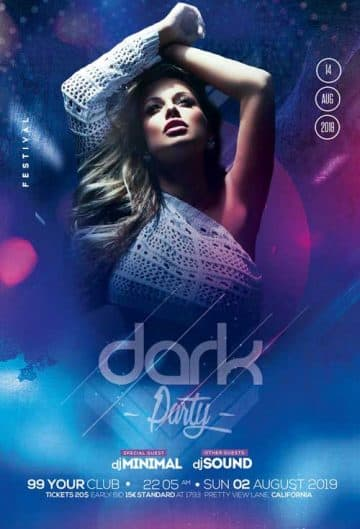 Dark Night Party Free Flyer Template