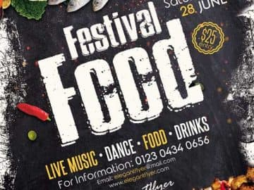 Free Food Festival Flyer PSD Template