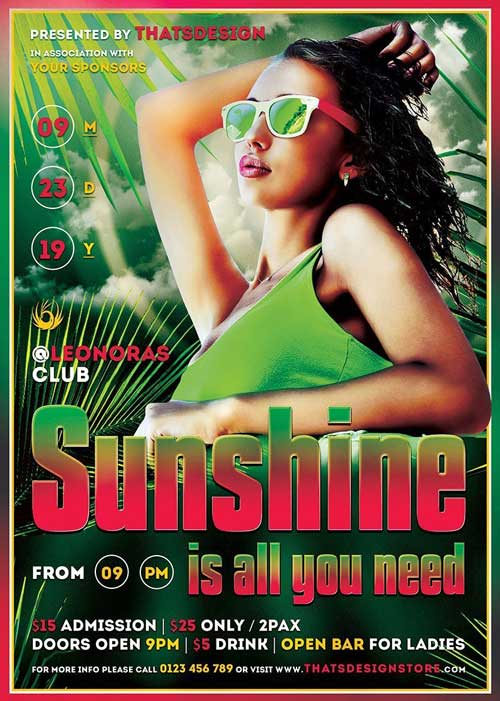 Free Summer Sunshine Flyer Template