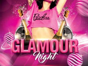 Glamour Night Party Free Flyer Template