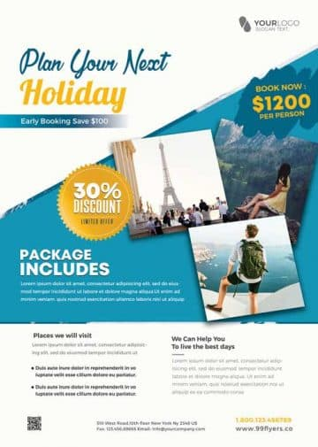 Holiday Travel Free Flyer Template