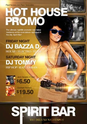 Hot House Party Promo Flyer Template