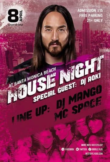 House Night Party Free Flyer Template