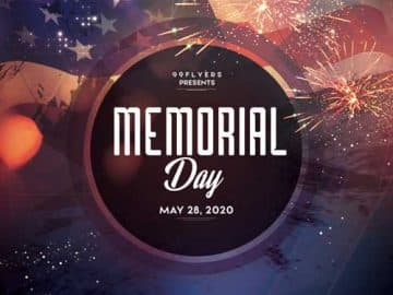Memorial Day Event Free Flyer Template