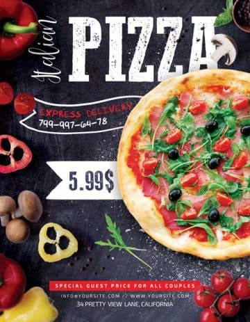 Pizza Delivery Free PSD Flyer Template