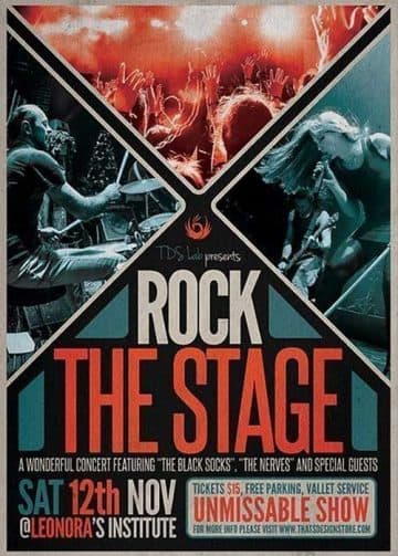 Rock the Stage Free Flyer Template