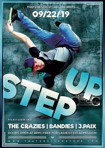 Step Up Hip Hop Free Flyer Template