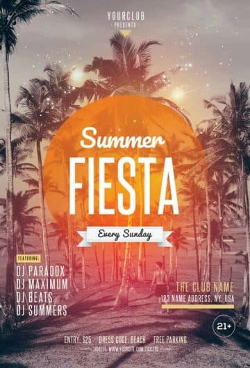 Summer Fiesta Free Party Flyer Template