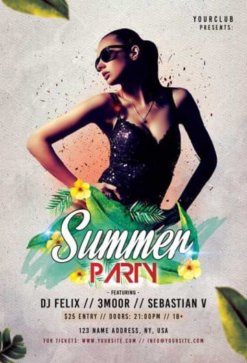 Summer Party Free Event Flyer Template