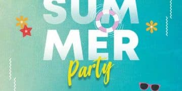 Summer and Tropical Free Party Flyer Template