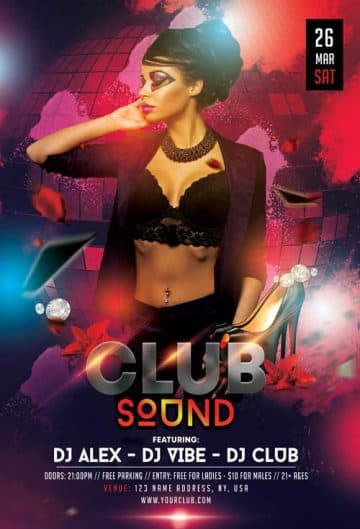 Club Sound Free Flyer Template
