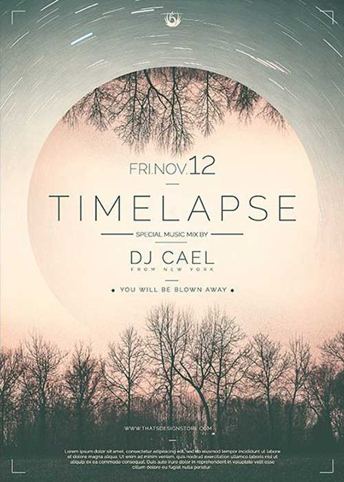 Time Lapse Free Flyer Template