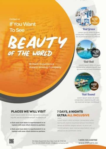 Travel Tour Free Flyer Template