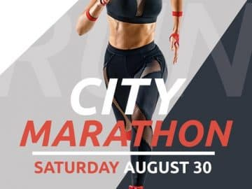 City Marathon Free Flyer Template