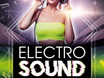Electro Sound DJ Party Free Flyer PSD Template