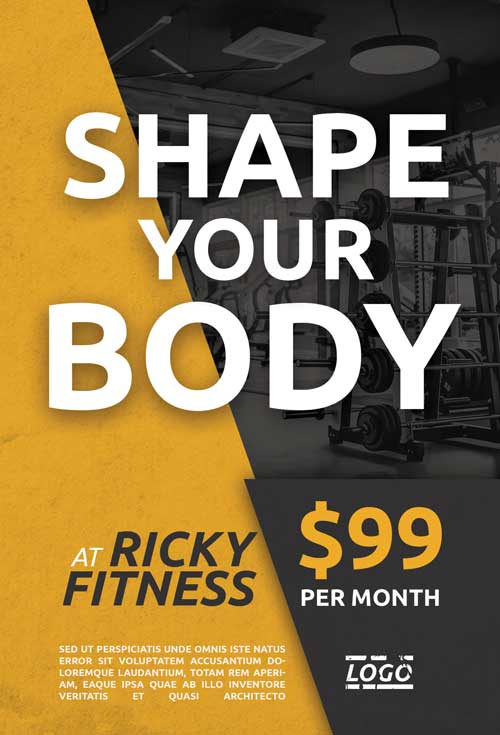 Fitness Free PSD Flyer Template
