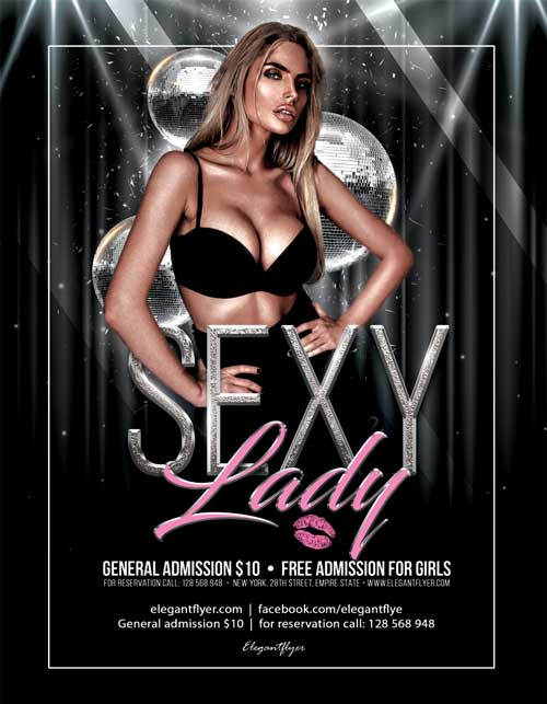 Sexy Ladies Party Free Flyer Template