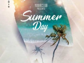 Summer Day Party Free Flyer Template