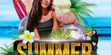 Summer Holidays Party Free Flyer PSD Template