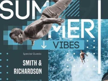 Summer Vibes Free Party PSD Flyer Template