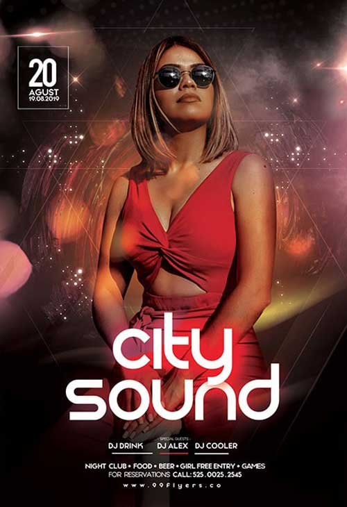 Urban Sound Party Free Flyer Template