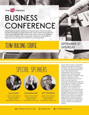 Business Conference Free Flyer Template