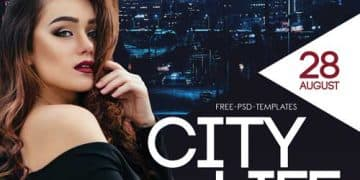 City Life Free Flyer Template