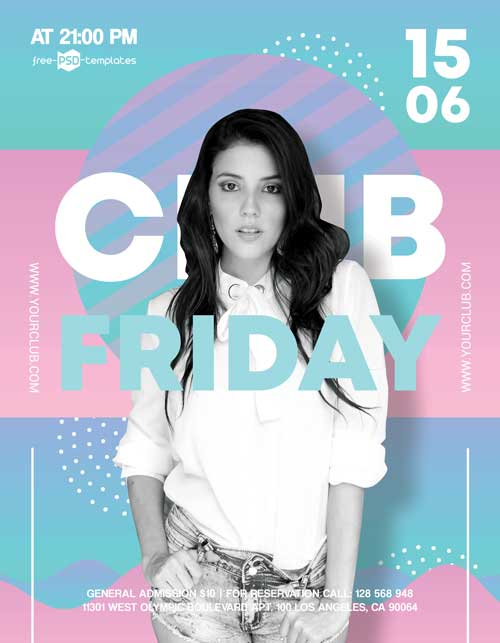 Club Friday Free Party Flyer Template