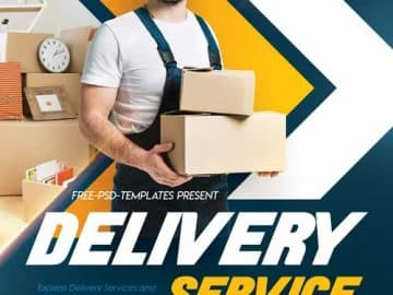 Delivery Service Free Flyer Template